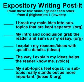 Expository Writing - Rating/Peer Edit