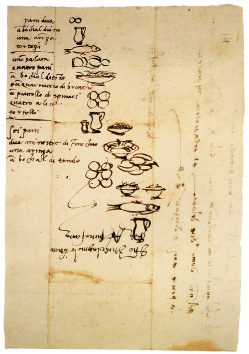 Michelangelo's Grocery List - 16th Century