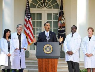 US President Barack Obama delivers remarks on the need for health insurance reform